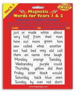 National Literacy Magnetic Words for Years 1&2 PACK 3 Key Stage